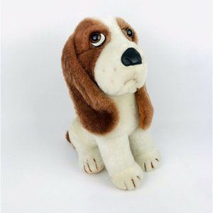 "Vintage 12"" Sad Eyes Crying Basset Hound Dog"